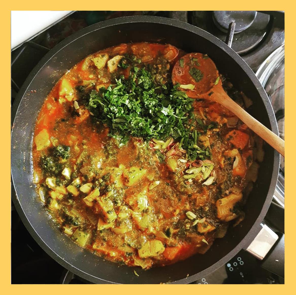 fish and vegetables , ماهی و سبزیجات