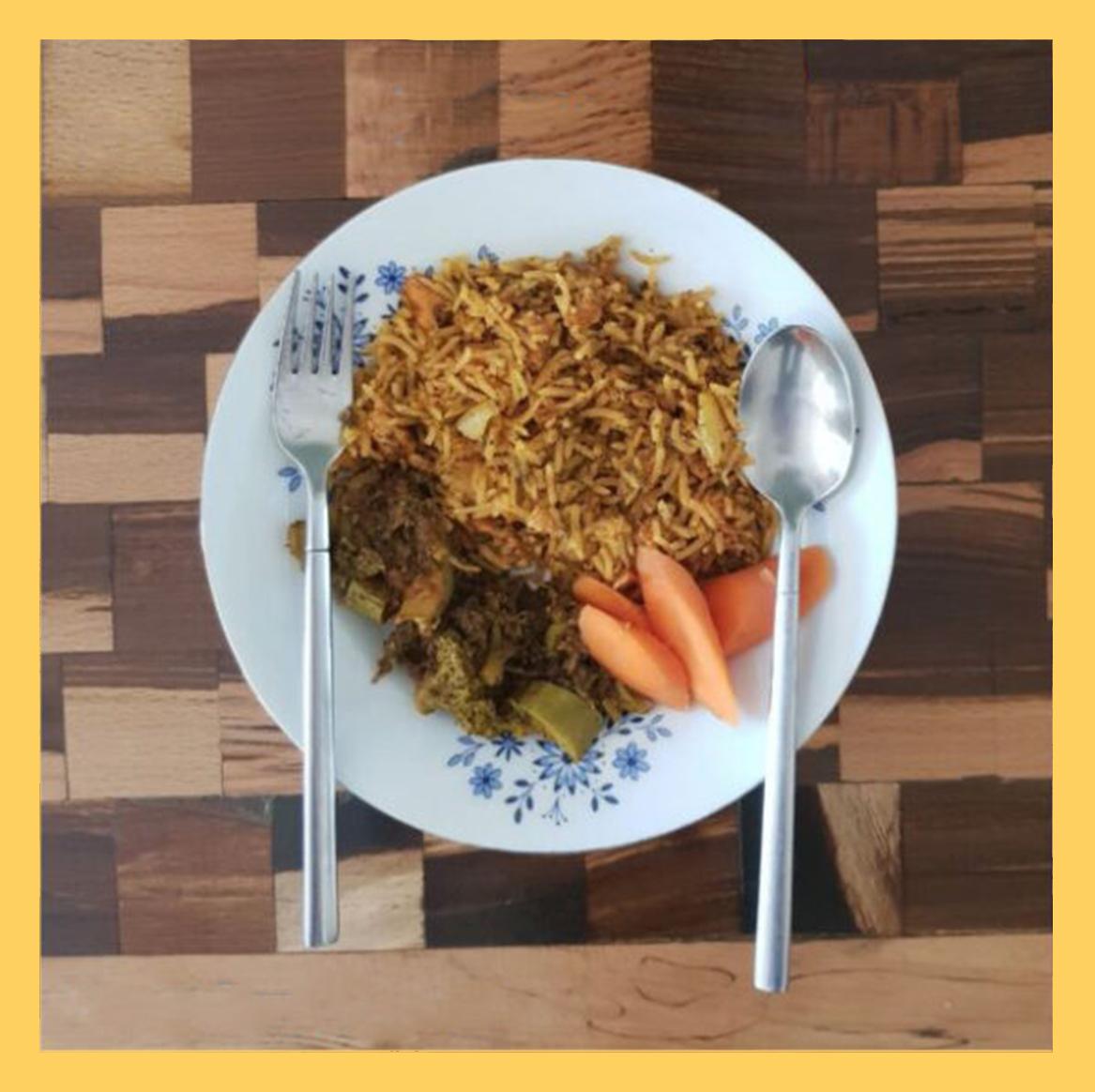 fish rice , پلو ماهی