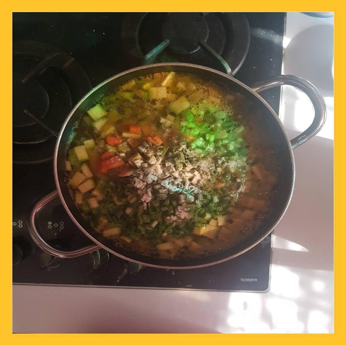 flu vegetable soup , سوپ سرماخوردگی